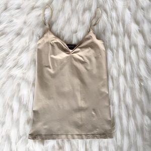 Bebe | Beige spaghetti strap camisole top